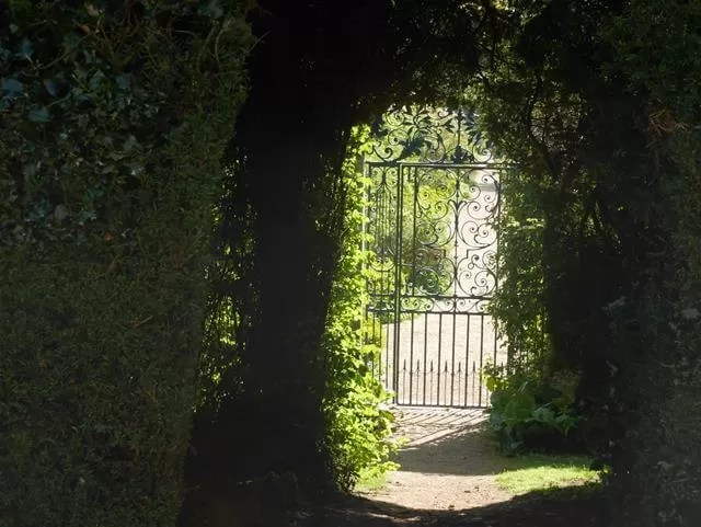 gateway to the walled gardens at rousham