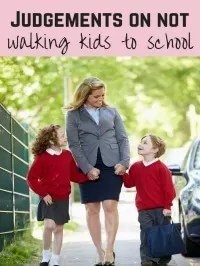 driving kids to school