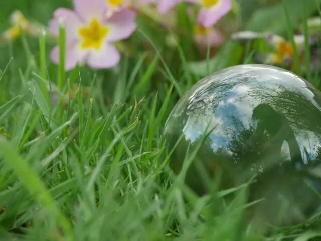 reflection error in lensball