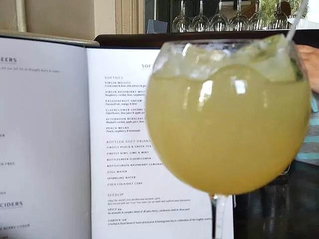 Browns elderflower sherbet drink