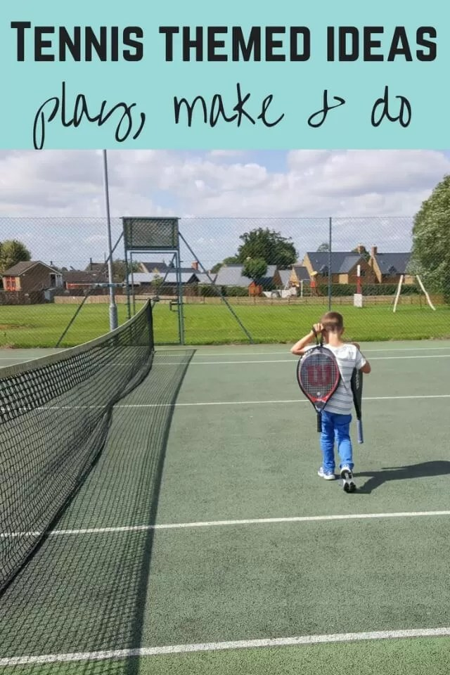 Tennis themed activities - Bubbablue and me