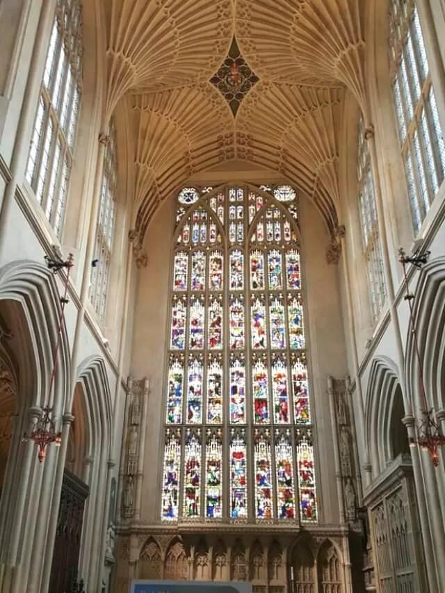 bath abbey east window