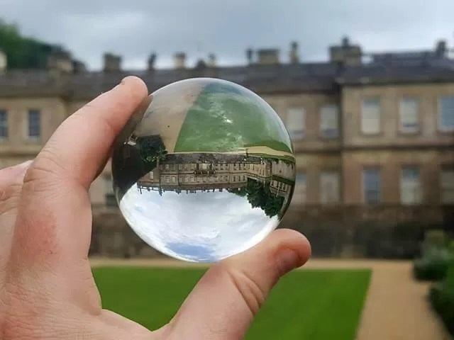 dyrham park through a lensball