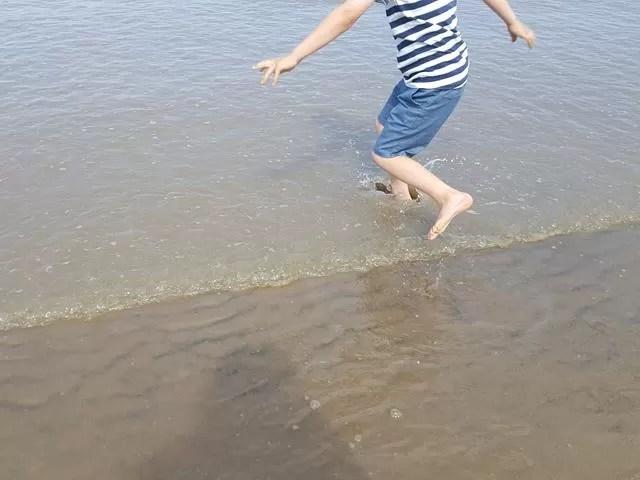 jumping the waves at berrow beach