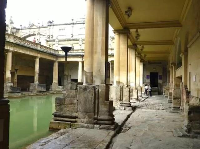 pillars roman baths