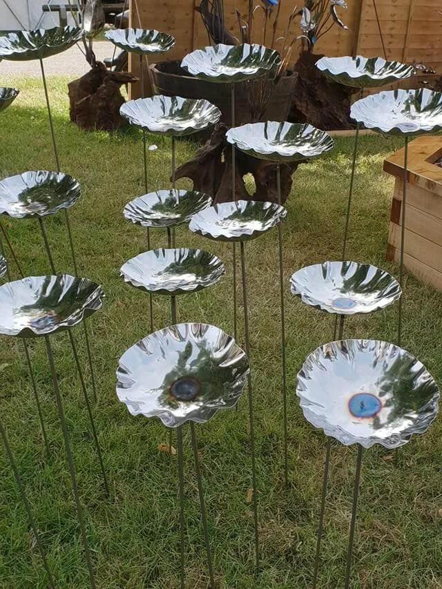 silver poppy ornaments