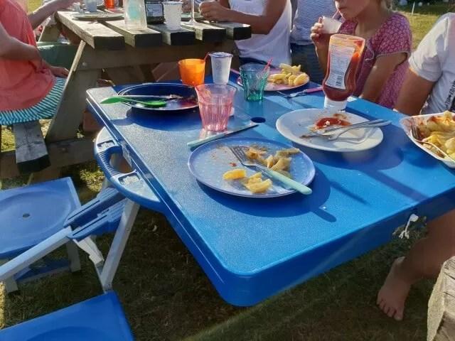 camping food eaten
