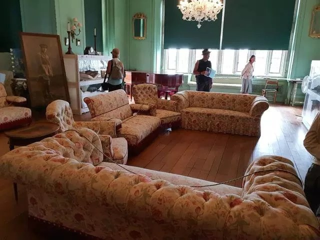 drawing room at castle drogo
