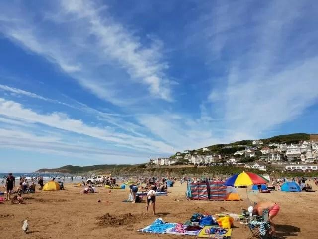 woolacombe beach in summer