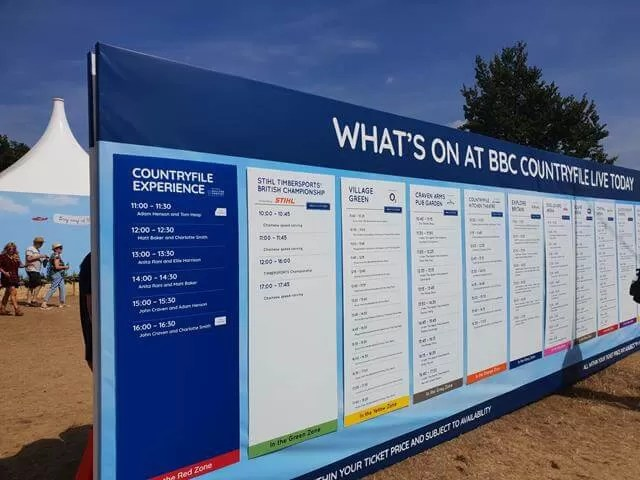 Countryfile live schedule