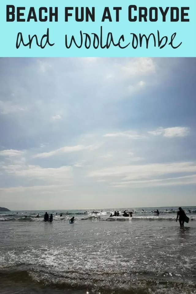 beach fun at woolacombe village and croyde - bubbablue and me