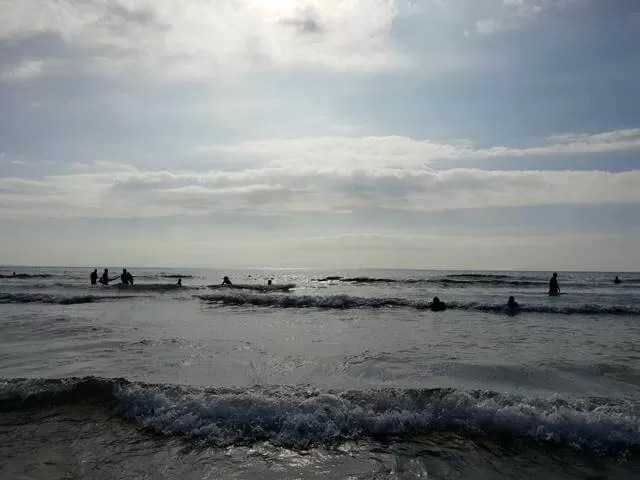 bodyboarding in Woolacombe beach