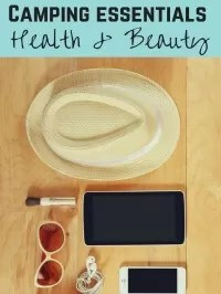health beauty camping essentials