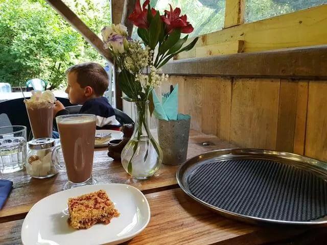 hot chocolates at evenley wood garden