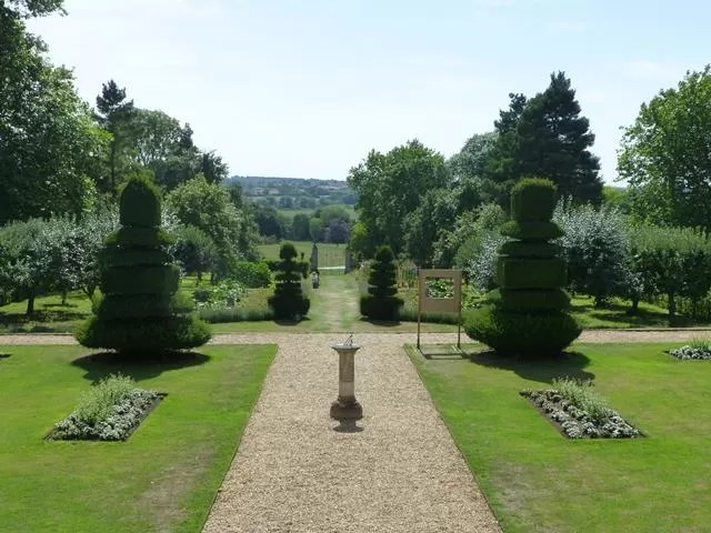 look down the garden at canons ashby