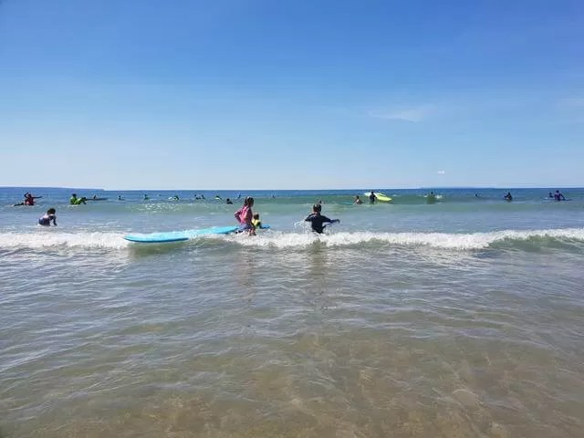 surfing and bodyboarding at woolacombe
