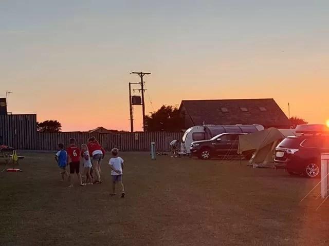 wf sunset over campsite