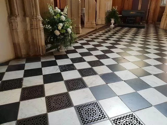 black and white floor st mary the virgin university church oxford
