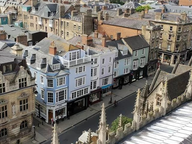high street oxford from above