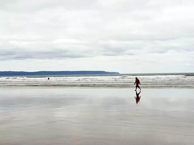 mirrored beach