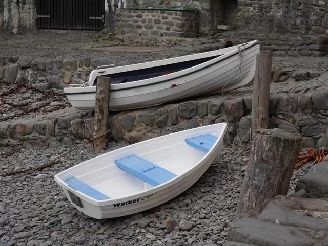 stripy boat