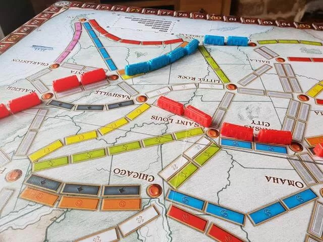 claiming train routes in ticket to ride game (1)