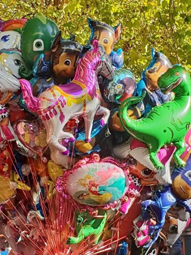 mix of helium balloons