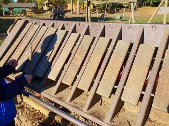 outdoor wooden xylophone