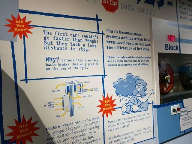 information displays about cars