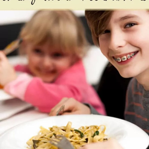Kids eating out in restaurants