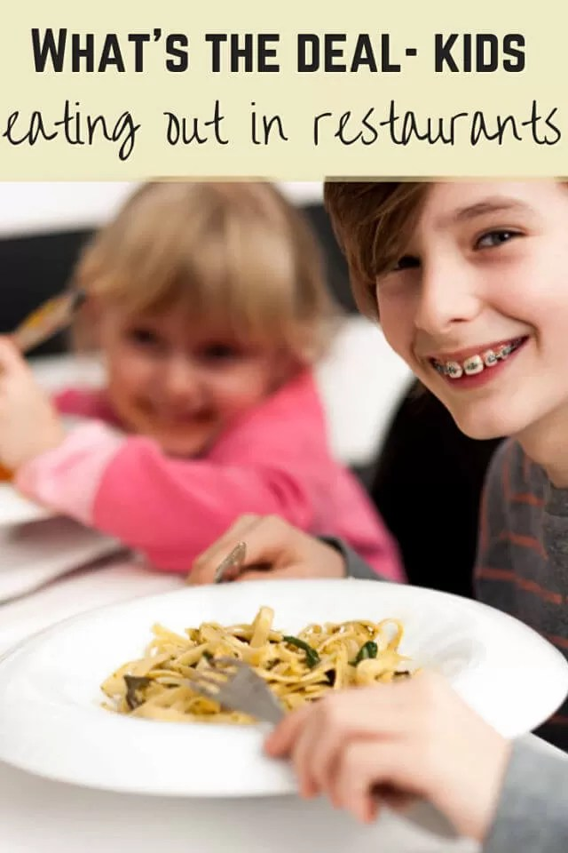 kids eating out in restaurants - Bubbablue and me