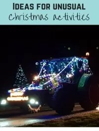 unusual christmas activities