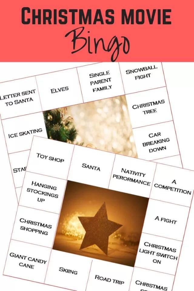 christmas film bingo