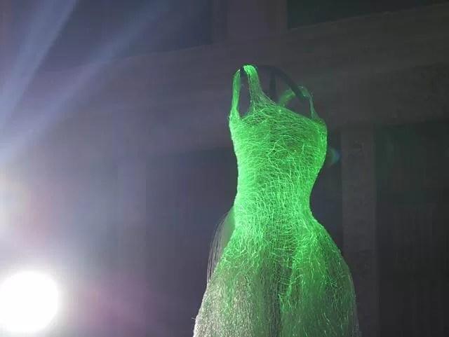green lit up cinderella dress