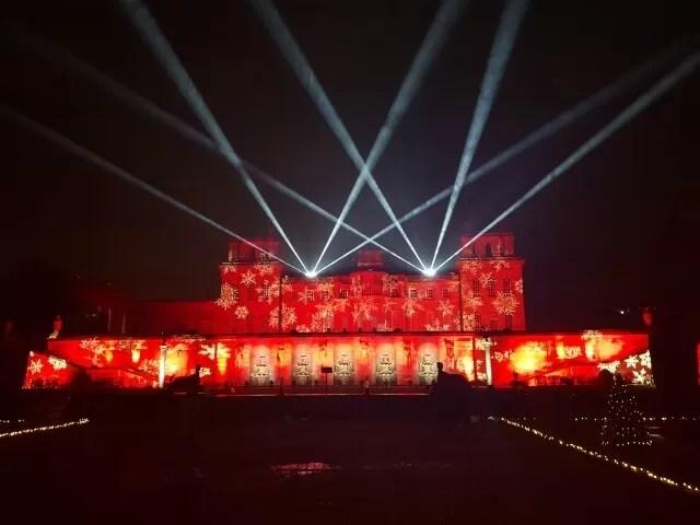 red lighting projection on blenheim