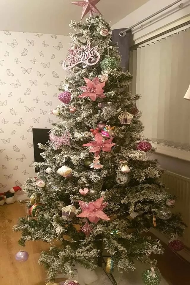 pink decorated tree
