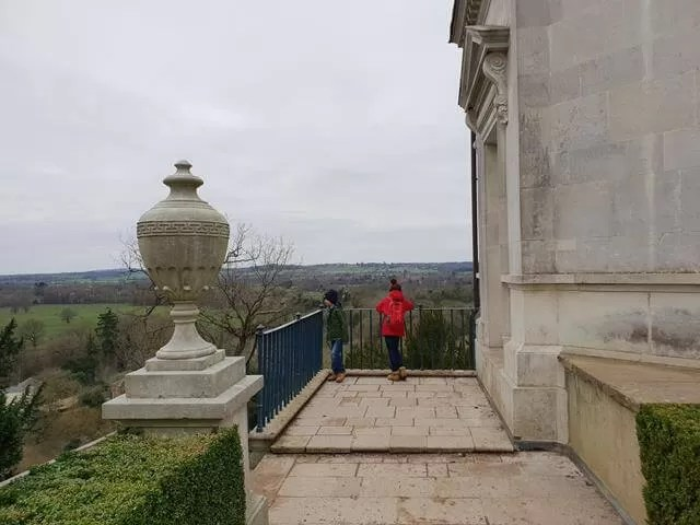 back terrace walkway of cliveden house