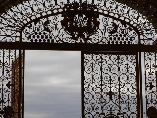 gold ironwork gates