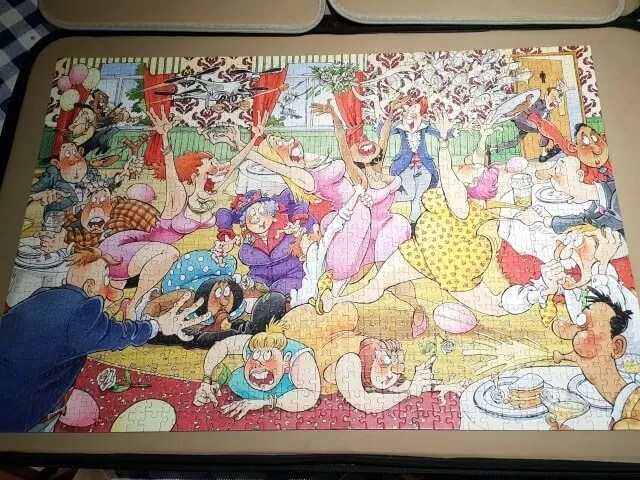wasgij 29 jigsaw puzzle completed