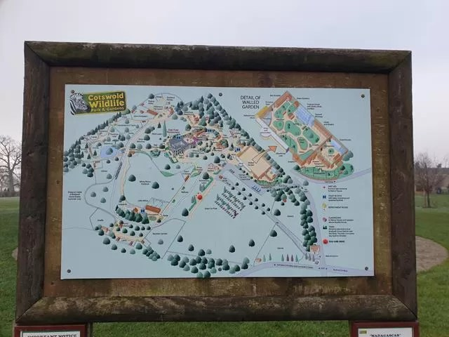 Cotswold wildlife park map