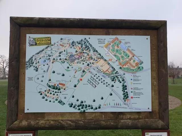 Cotswold wildlife park map