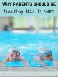 teaching kids to swim