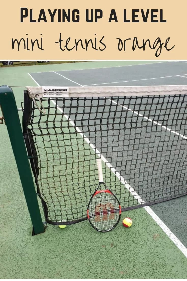 playing up a tennis level - Bubbablueandme