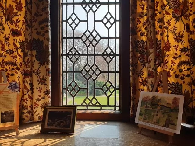 through the window at goddards house