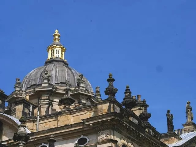 Castle howard dome against blue sky