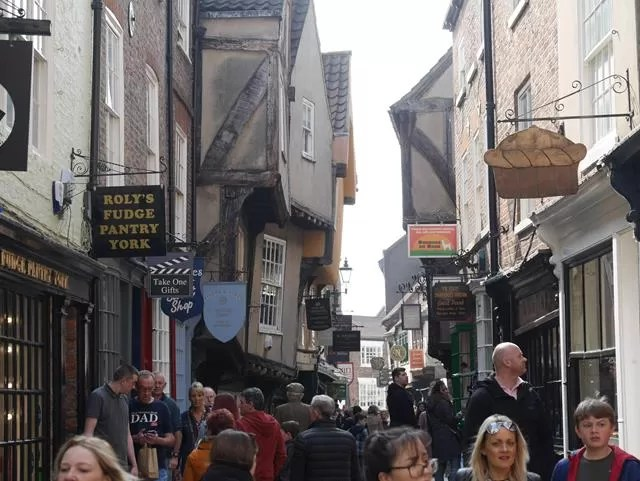 busy The Shambles street