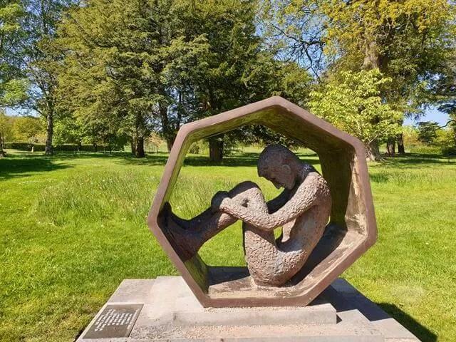crouching soldier sculpture