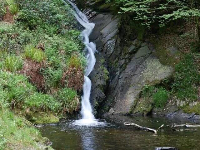 long exposure waterfall into pool.