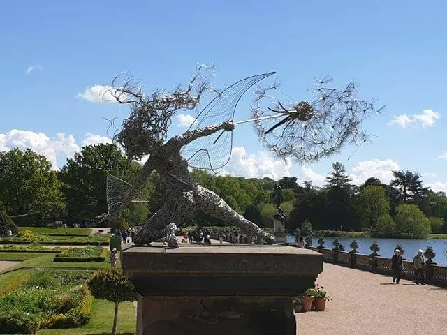 metal fairy sculpture