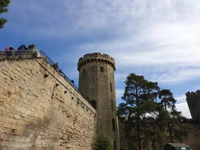 outside of Warwick Castle